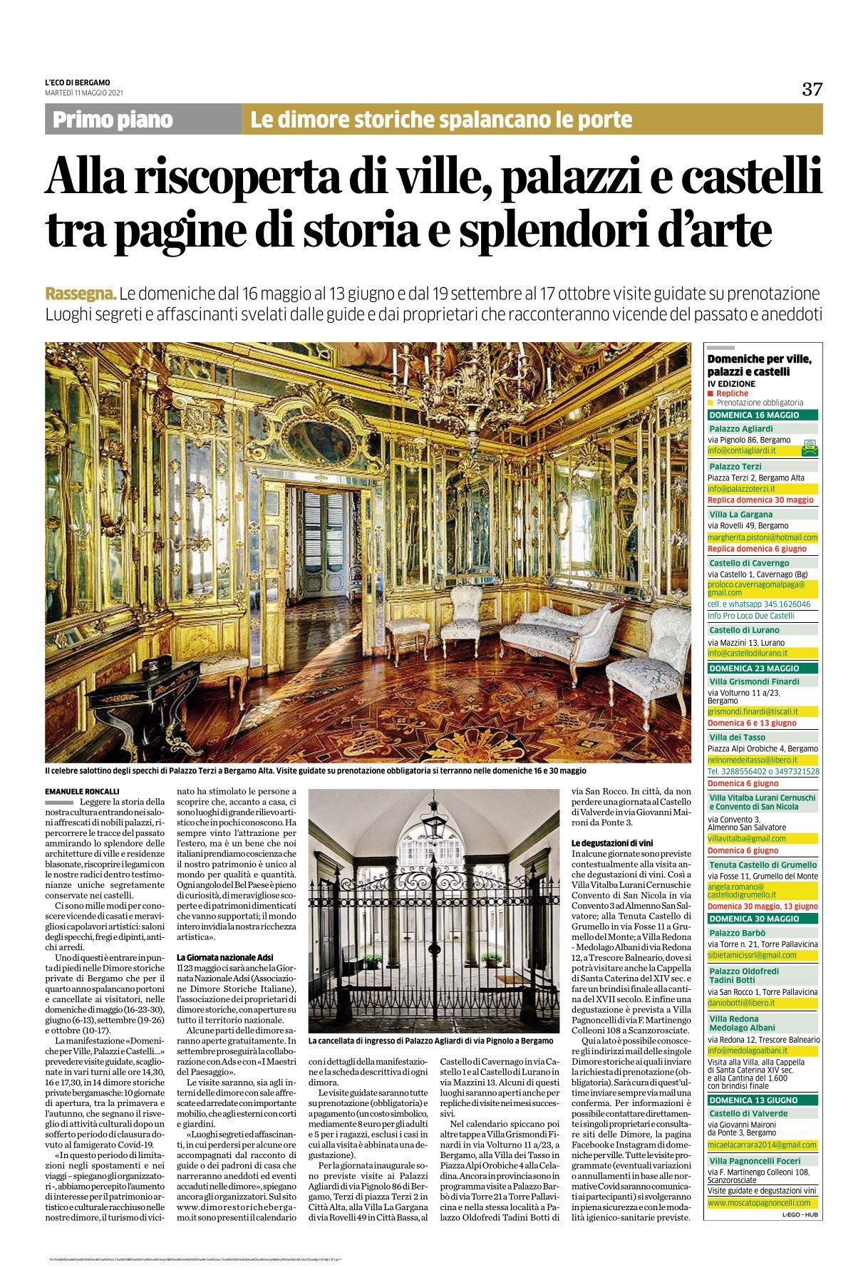 L'Eco di Bergamo - Maggio 2021
